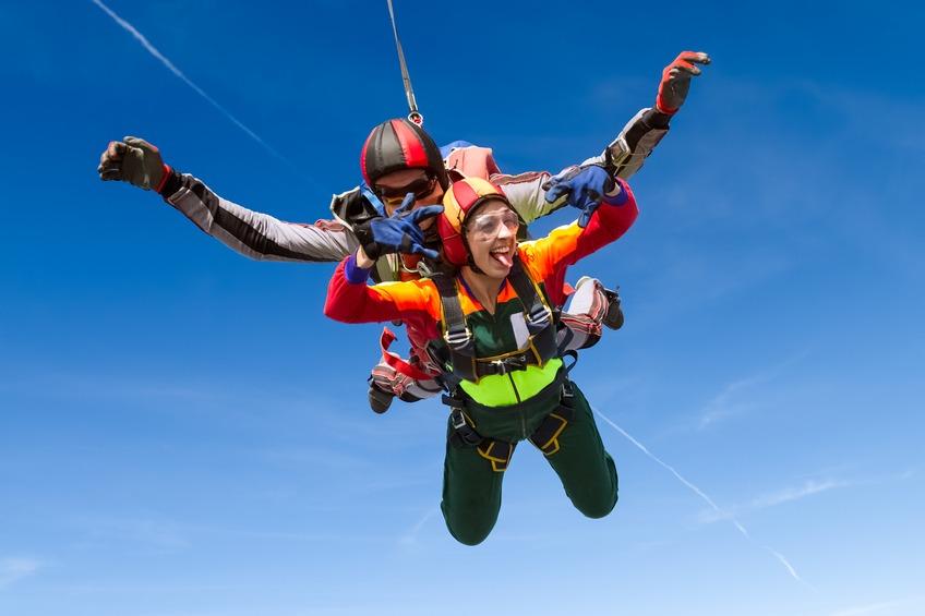 Salto en paracaídas en Madrid