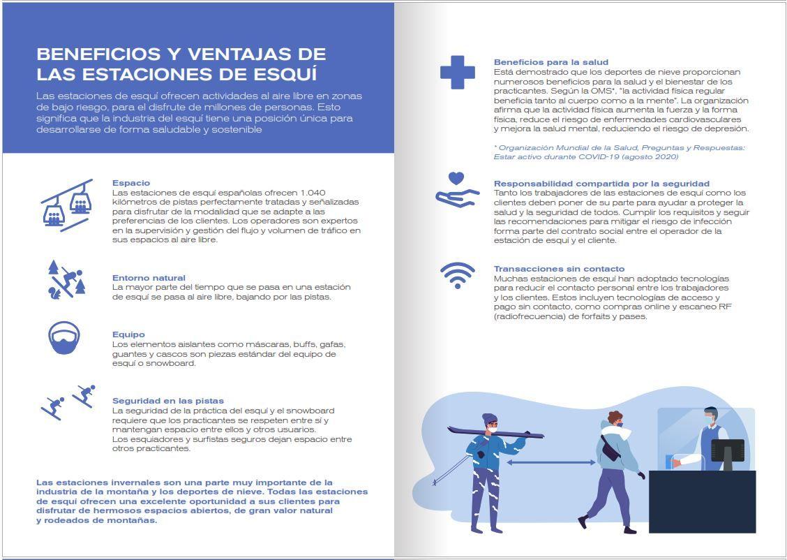 texto de los beneficios y ventajas de las estaciones de esquí